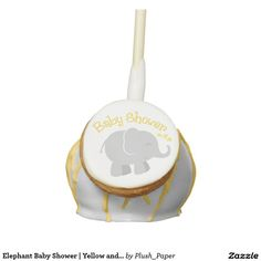 Elephant Baby Shower | Yellow and Gray Cake Pops