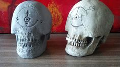Modified skulls as props