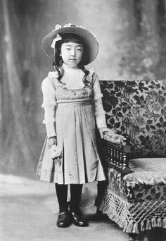 Princess Nagako of Kuni, later Empress Kōjun of Japan, in 1910