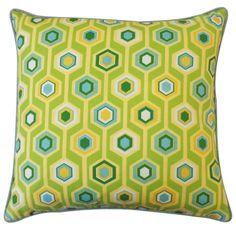 20in x 20in Green Recoleta Outdoor Pillow by Jiti