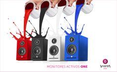Monitores Activos en cuatro colores
