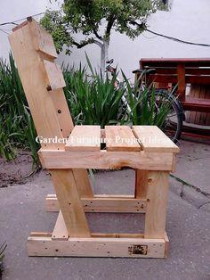 Garden Furniture from Pallets - Pallet Furniture Project Pallet Garden Furniture, Diy Pallet Sofa, Pallets Garden, Diy Pallet Projects, Pallet Ideas, Furniture Projects, Furniture Plans, Diy Furniture, Pallet Chairs