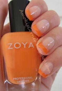 Zoya Nail Polish in Arizona French Tips- love the light, bright tips for summer.