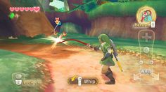 TLOZ Skyward Sword uses an almost cell shaded graphcic style, its 3d and textured in really bright colours.