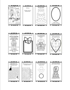 wedding activity book - Print Out Activities