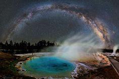 La foto destacada de la semana: La Vía Láctea sobre Yellowstone