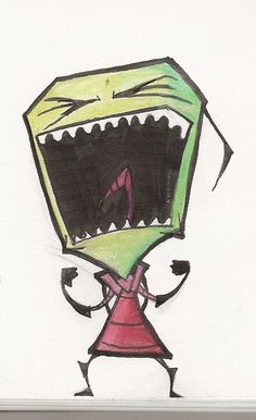 Screamin' Zim by elixirXsczjX13.deviantart.com on @DeviantArt