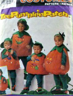 Simplicity Pattern 8577 Childs Pumpkin by VintageNeedleFinds,