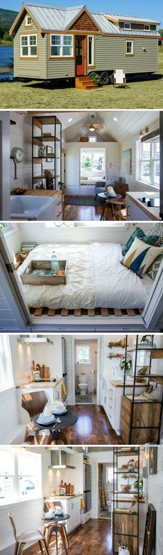 The Payette from Truform Tiny Houses - The home's 328 sq ft interior features a ground floor bedroom, a queen-sized loft bedroom, a full kitchen, living room, and bathroom. : tinyhousetown