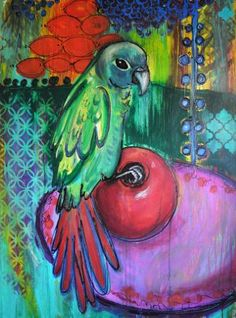 Parrot and Pomegranate