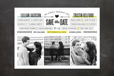 You + Me = We Save The Date Cards by Wendy Van Ryn   Minted
