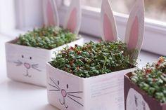 Creative Easter ideas for children - Dorte Bak Easter Art, Easter Crafts For Kids, Diy For Kids, Easter Activities, Easter Ideas, Milk Carton Crafts, Diy And Crafts, Arts And Crafts, Creative Kids