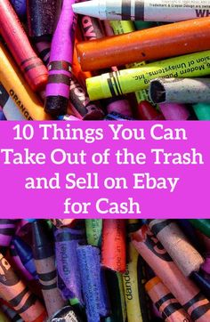 You won't believe what people are taking out of the trash and selling on Ebay for cash!