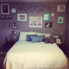 my rooms almost done!!! #DIY #collage #frames #alwayscrooked #bedroom