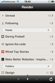 Reeder. Just downloaded this to use for google reader. Like it so far.