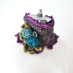 Purple Rose scarf  Take time to stop and by ValerieBaberDesigns