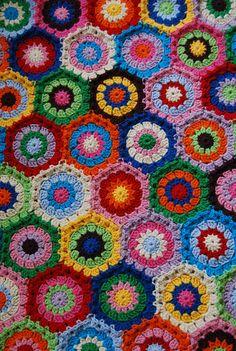 hexagon blanket in progress | Flickr - Photo Sharing!
