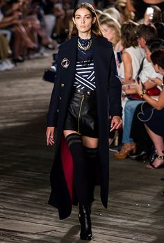 Gigi Hadid opens the Tommy Hilfiger Spring/Summer '17 show at New York Fashion…