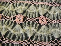 Multicolored hairpin lace