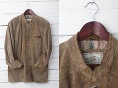1990s Vintage Warm Suede Brown Vintage Men Jacket by CoverVintage, $39.00