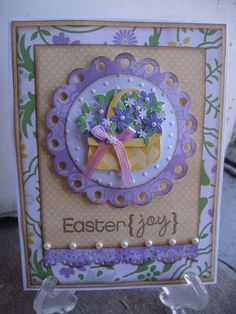 one of my many Easter cards : )