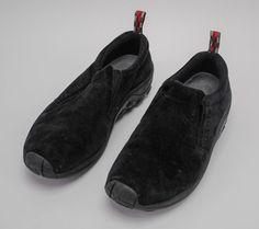 22ef99e4217 Merrell Jungle Moc Midnight Men s Shoes Size 9 Slip On Hiking Trail Dual  Density