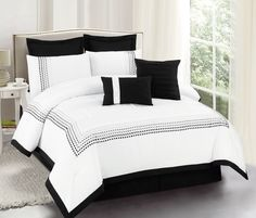 Klein bedding in black Duck River Textile