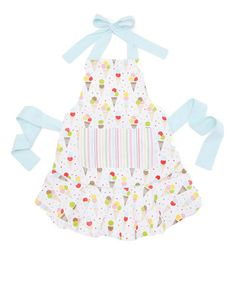 Take a look at this Scoops Apron - Women by Design Imports on #zulily today! $17.99, regular 26.00. Product Description:   Get ready to make memories in the kitchen with the help of this adorable apron. Featuring a chic and charming design, this delight is perfect for keeping clean and tidy while whipping up tasty treats and sweet snacks.    •26'' W x 27.5'' H •100% cotton •Machine wash; tumble dry •Imported