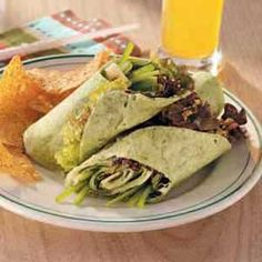 Veggie wrap, chips, and beet