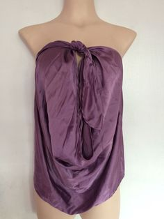 NWT! $255 RAMY BROOK Silk Harriet Four Way Halter Top Sz M color: LAVANDER #RAMYBROOK #Halter #Casual