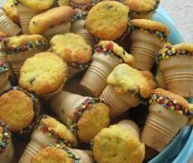 Muffins in Waffelbechern