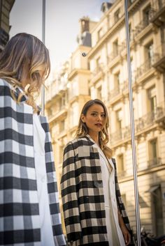 Finders Keeps checkered coat, Lovers+Friends dress // What the Chung?