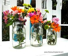 The Country Barrel — Set of 4 Regular Mouth Mason Jar Flower Frog Lids