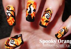 Scary Halloween Nail Art Designs