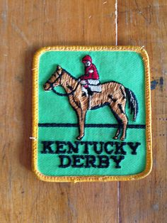 Kentucky Derby Vintage Travel Patch from HeydayRetroMart on Etsy, $6.00
