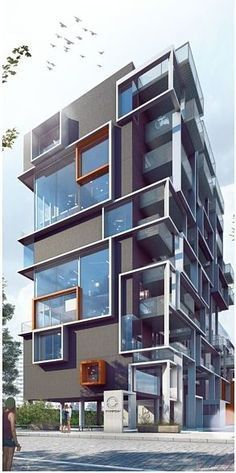 Best Modern Apartment Architecture Design 22 image is part of 80 Best Modern Apartment Architecture Design 2017 gallery, you can read and see another amazing image 80 Best Modern Apartment Architecture Design 2017 on website Architecture Design, Facade Design, Futuristic Architecture, Residential Architecture, Amazing Architecture, Contemporary Architecture, Exterior Design, Contemporary Building, Building Facade