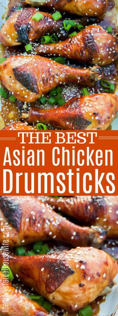 Lower Excess Fat Rooster Recipes That Basically Prime Amazing Asian Chicken Drumsticks Asian Chicken Drumstick Recipe, Asian Marinade For Chicken, Asian Chicken Recipes, Chicken Marinades, Chicken Wraps, Baked Chicken, Sticky Chicken, Chicken Legs, Skillet Chicken