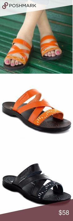 76f754efcefb Slip - On Style Sandals For Women by Aerosoft® Polyurethane Material Faux  Leather Arch Supportive Highly recommended to buy a pair that fit the  bigger foot.