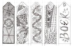 Bookmarks B&W  to color for older grades  by mamie