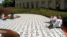 11 Things In Pittsburgh You Didn't Know Existed. Set in Carnegie Mellon, on the roof of the Posner Center, the Kraus Campo is an outdoor art installation that features a garden and large sculpture. The sculpture is covered in black and white tiles inscribed with numbers, and it sits in the midst of a labyrinth.