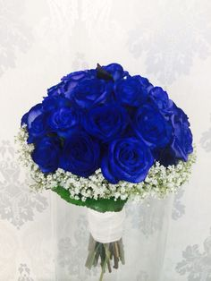 Something like these in a small bouquet for Hope and smaller for made of honour. Also for the 3 boutonnieres and corsages. Prom Flowers, Blue Wedding Flowers, Bridal Flowers, Flower Bouquet Wedding, Small Bouquet, Simple Wedding Bouquets, Romantic Wedding Colors, Bride Bouquets, Blue Wedding Decorations
