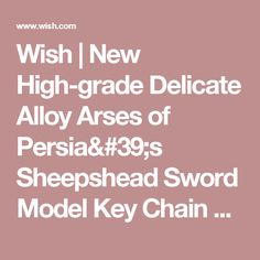 Wish | New High-grade Delicate Alloy Arses of Persia's Sheepshead Sword Model Key Chain World of Warcraft Bronze/Black