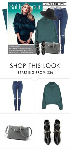 """Green Sweater"" by genuine-people ❤ liked on Polyvore featuring Yves Saint Laurent, rag & bone and GREEN"
