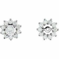 577afa50e9 14K White Gold Diamond Earring Jacket RedBoxJewels.com.  973.95