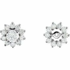 14K White Gold Diamond Earring Jacket RedBoxJewels.com. $973.95