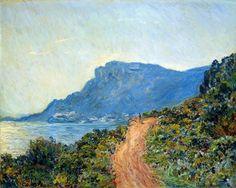 The Corniche of Monaco, 1884 by Claude Monet. Impressionism. landscape