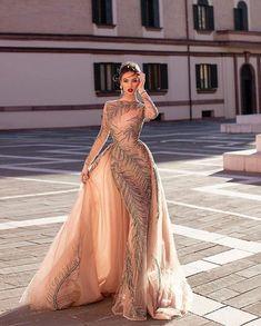Material: Polyester Silhouette: A-Line Dress Length: Floor-Length Sleeve Length: Nine Points Sleeve Sleeve Type: Regular. Gala Dresses, Couture Dresses, Fashion Dresses, Dress Outfits, Elegant Dresses, Nice Dresses, Formal Dresses, Wedding Dresses, Marchesa Fashion