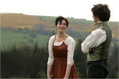 Pin for Later: What's New on Netflix? Our Picks For the Month of August Becoming Jane James McAvoy plays a dashing Irishman who romances a young Jane Austen (Anne Hathaway). Watch it now! Hugh Grant, Bridget Jones, Emma Thompson, Renee Zellweger, Colin Firth, Kate Winslet, Anne Hathaway, Pearl Harbor, Alan Rickman