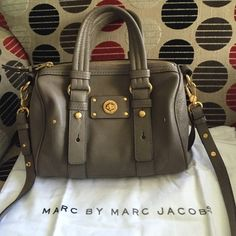 Marc By Marc Jacobs new with retail tag satchel New purse with retail tag, 100% Authentic Marc by Jacobs Puma Taupa color fashion so useful and elegant purse Marc by Marc Jacobs Bags Satchels