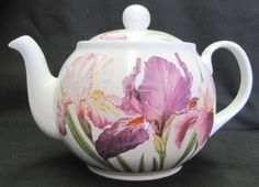 Sweet Iris English Bone China Teapot